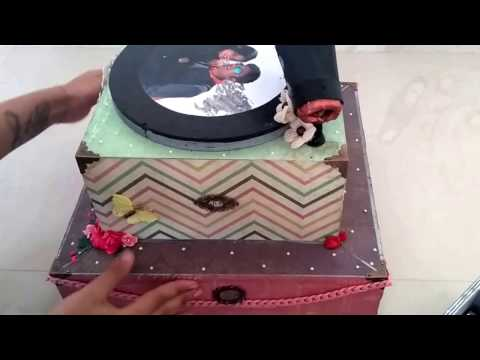 Gramophone Musical Photo Album | Unique Idea for Theme Based Gifts