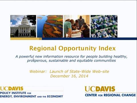 Webinar: Center for Regional Change's Regional Opportunity Index