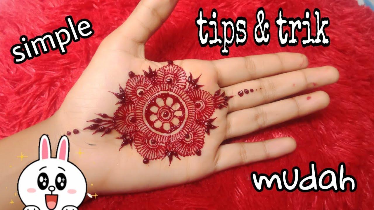 Henna Telapak Tangan Hennaart Super Mudah Liliss Trayani Youtube