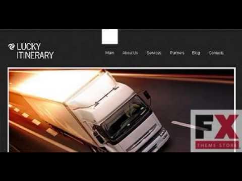 Preview Grey Black Trucking WordPress Theme By Mira TMT