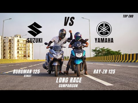Yamaha Ray-ZR 125 Bs6 Vs Suzuki Burgman Street 125 Bs6 Long Race | Detail Comparison | Ksc Vlogs