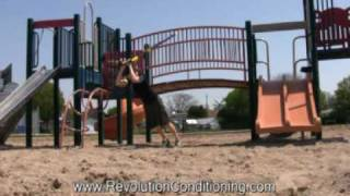 London, Ontario Athlete Training: Trx Complexes At The Playground