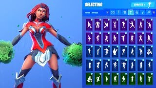 VALOR SKIN SHOWCASE WITH ALL FORTNITE DANCES & EMOTES