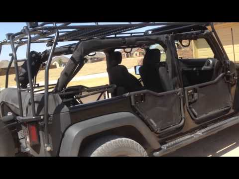 Jeep Wrangler 4 Door Soft Top >> Jeep JKU Soft Top Boot With Gobi and Rancho doors - YouTube