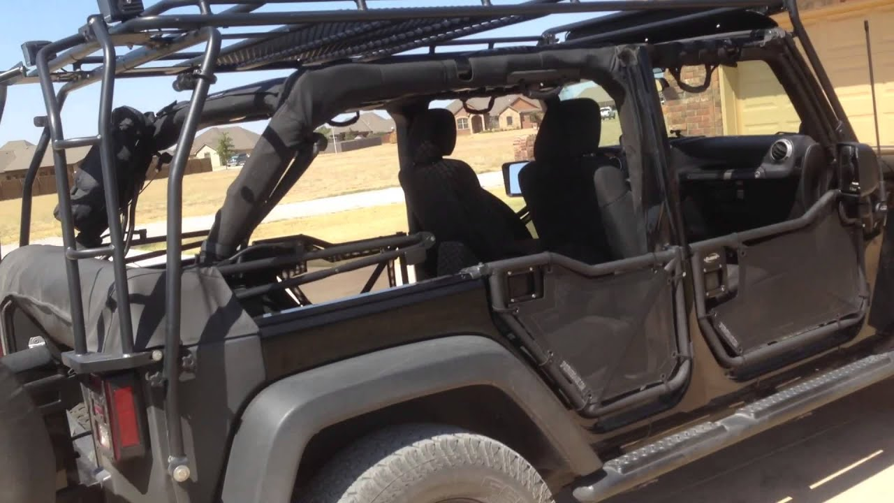 Jeep Jku Soft Top Boot With Gobi And Rancho Doors Youtube