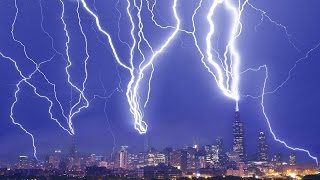 Chicago Lightning Attack - The Making of a Composite Image