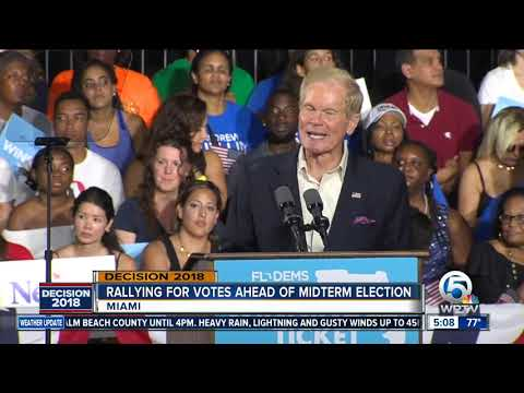 Barack Obama on campaign trail in Miami