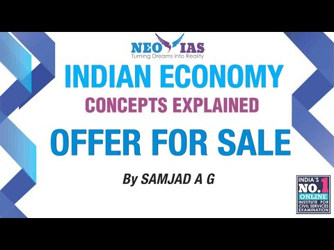 Offer for Sale | Capital Market | Indian Economy | Part - 8
