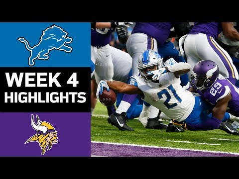 Lions vs. Vikings | NFL Week 4 Game Highlights