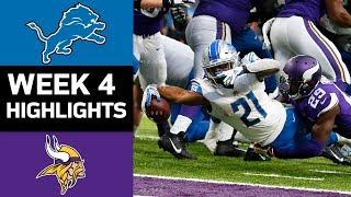 Lions vs. Vikings   NFL Week 4 Game Highlights