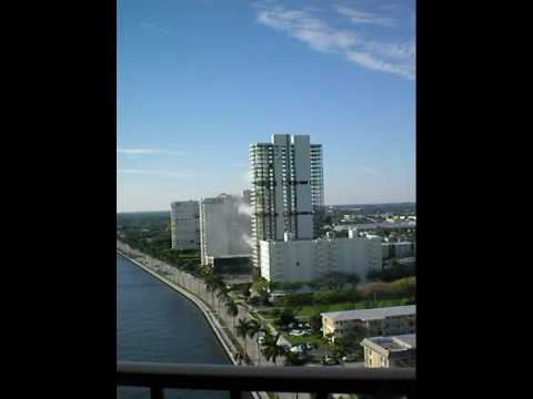 implosion of West Palm Beach building