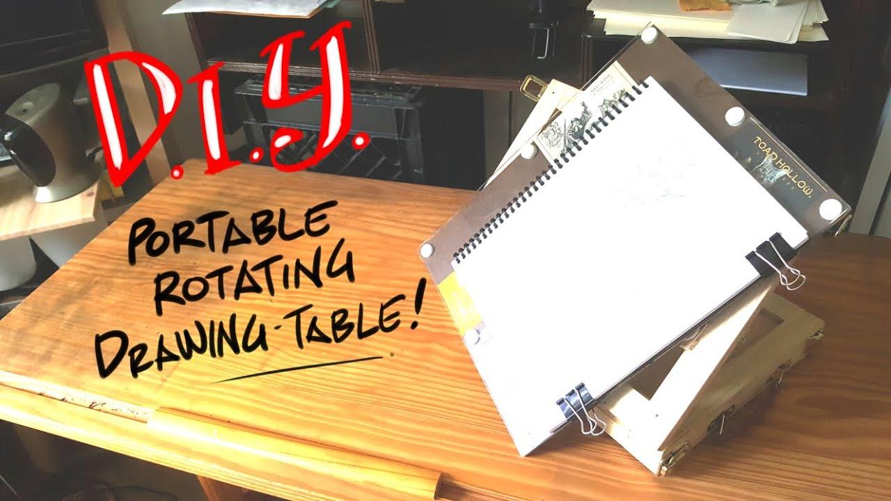 diy portable rotating drawing table youtube