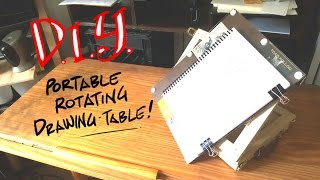 This is the table I use when I am drawing outside of my studio. In this video I show you how it works, the elements I used to build it,