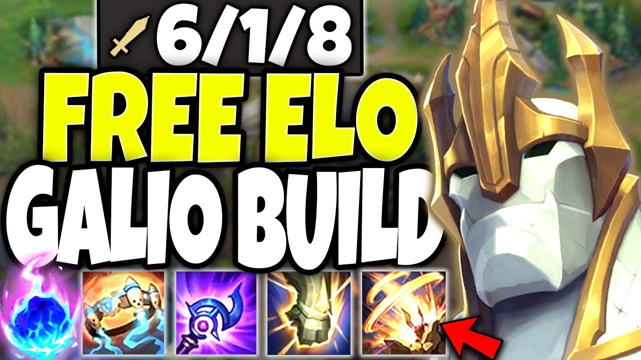 This Galio build is just FREE ELO 🔥 One COMBO ALL ENEMY TEAM DEAD 🔥 LoL TOP Galio Season 10 Gameplay