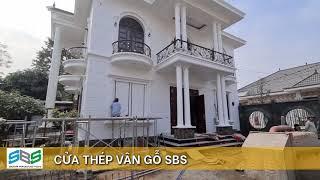 Cửa thép vân gỗ SBS - Nhà biệt thự Mr Bảy - Tam Dương - Vĩnh Phúc: Cửa 4 cánh và thông phòng