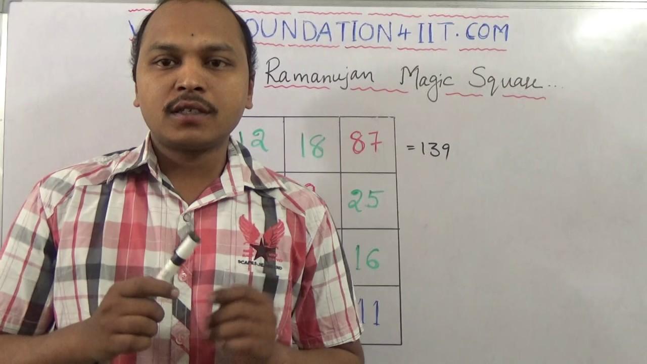 Srinivasa Ramanujan's Magic Square Formula - Maths Puzzle! #08