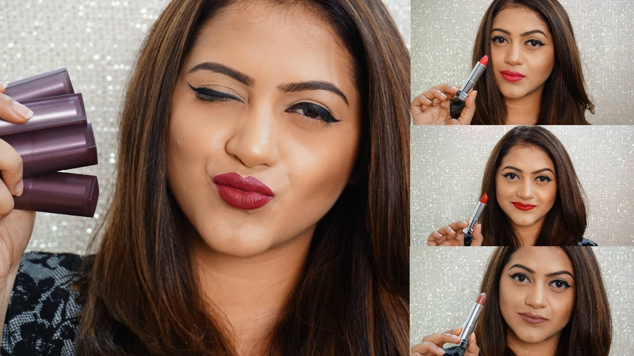 MAYBELLINE CREAMY MATTE LIPSTICKS LIP SWATCHES & REVIEW | GoGlam
