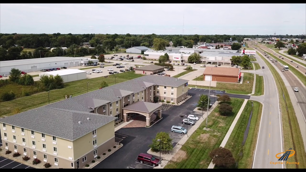 Capital Paving Comfort inn and Suites Completed Asphalt Parking Lot