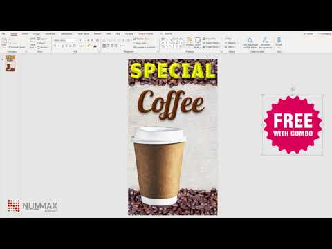 Create your media content (image or video) with PowerPoint