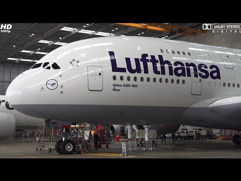 ★★★ A day at the Lufthansa Hangar (Maintenance), D-AIMB [incl. COCKPIT] A380-841 PART 4 of 4 ★★★