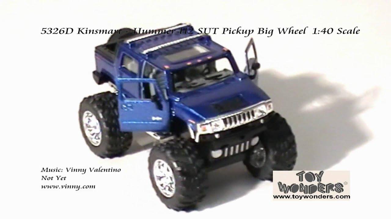 5326D Kinsmart Hummer H2 SUT Pickup Big Wheel 140 Diecast