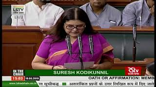 Maneka Sanjay Gandhi takes oath as Lok Sabha MP
