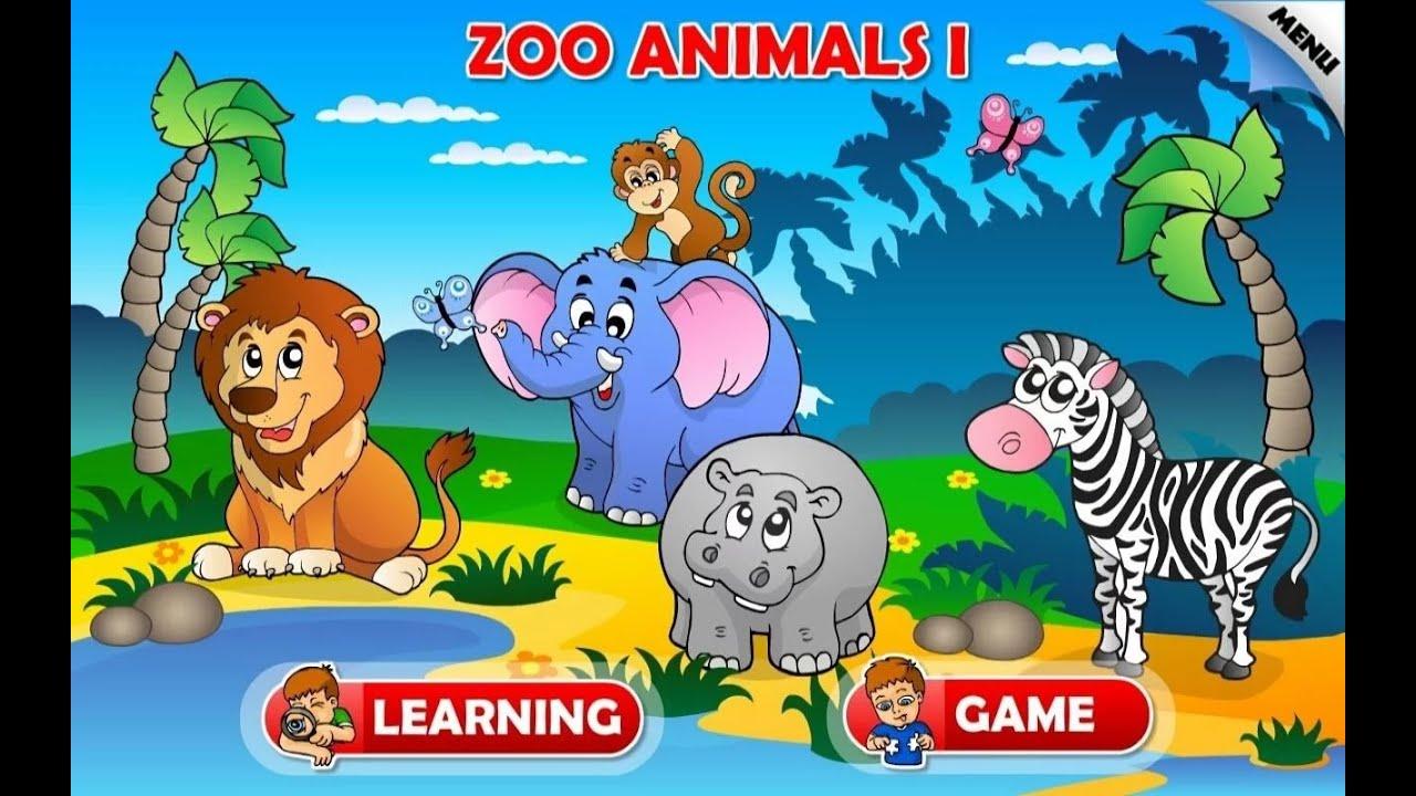 zoo animals farm games education
