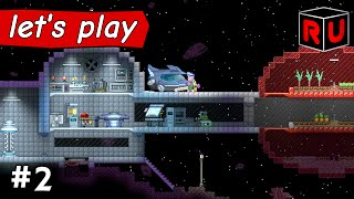 The Automated Space Farming Sphere! | Let's play Starbound Asteroid Base ep 2