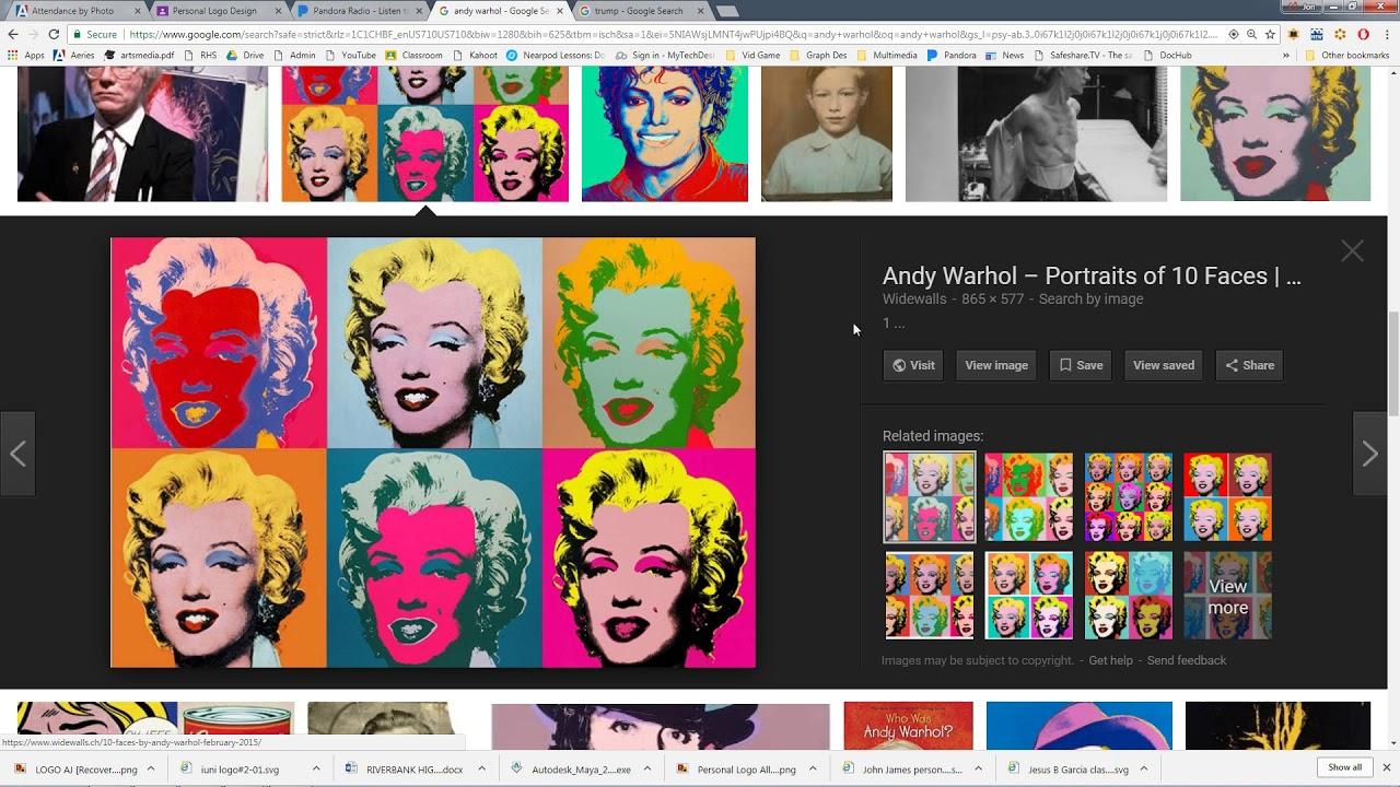 Easy Photoshop Andy Warhol Pop Art Effect Youtube