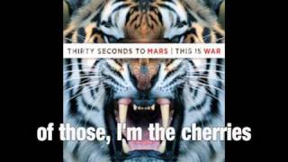 "30 Seconds To Mars - ""Kings And Queens"" Backwards with lyrics"