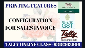 Printing Features For Sales Invoice in Tally.ERP9||Printing Configuration