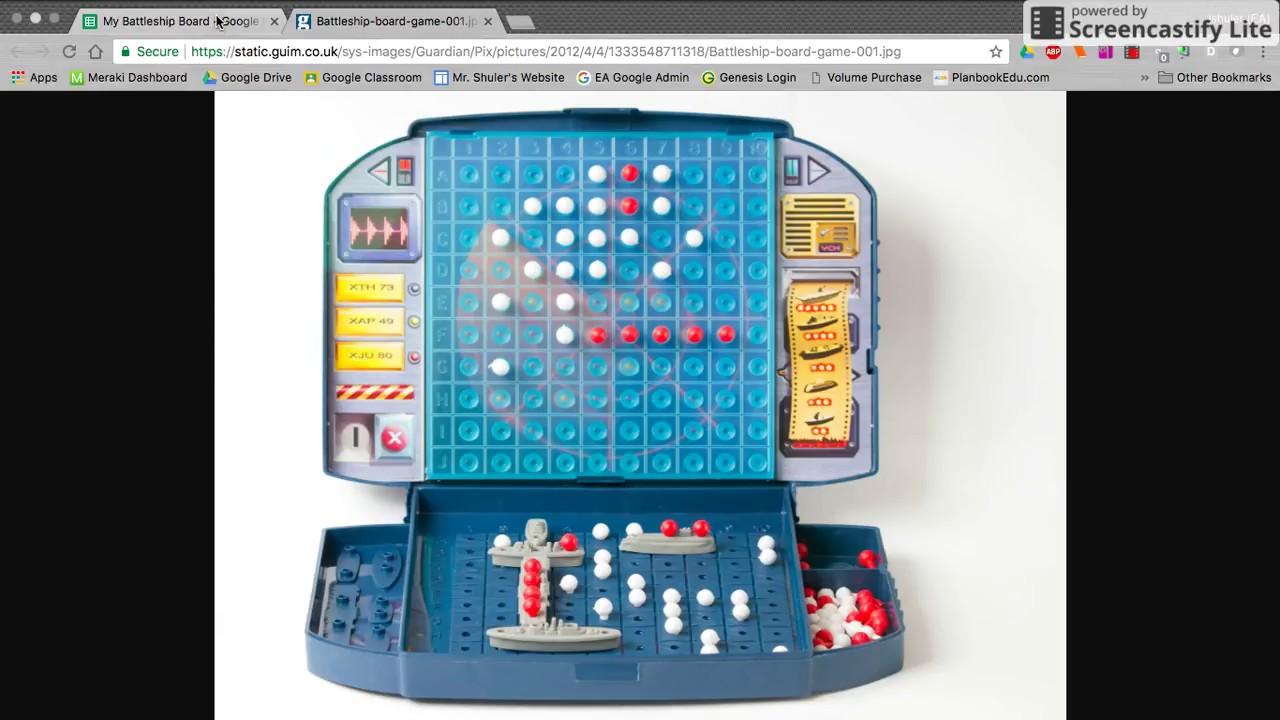 Google Sheets Battleship Game Board Setup Part 1 Youtube
