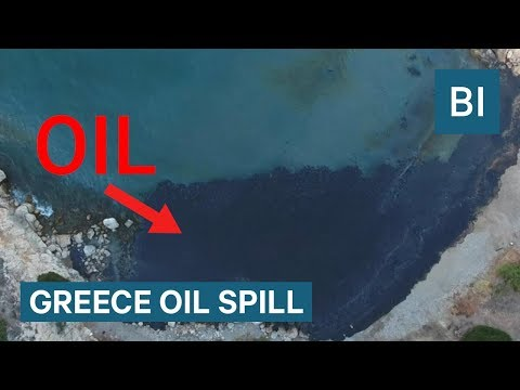 More than 2,500 tons of oil spilled in a Greek harbor