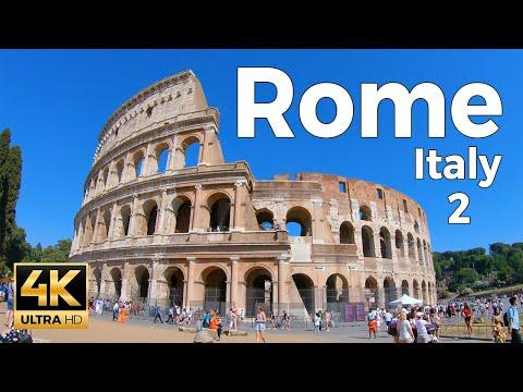 Rome, Italy Walking Tour Part 2 (4k Ultra HD 60fps)