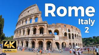 Rome, Italy Walking Tour Part 2 (4k Ultra HD 60fps)