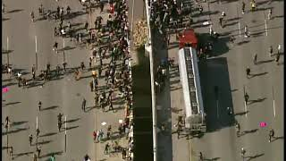 Tanker truck swarmed after driving into protesters on 35W in Minneapolis