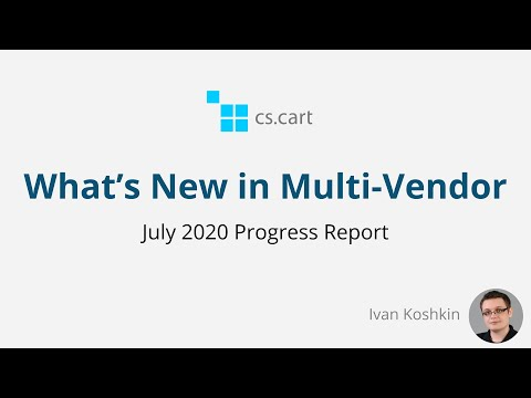 CS-Cart Multi-Vendor: What Changed in July 2020