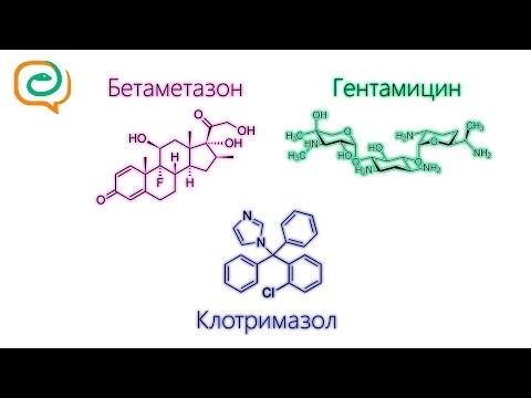 По-быстрому о лекарствах. Бетаметазон +  Гентамицин + Клотримазол