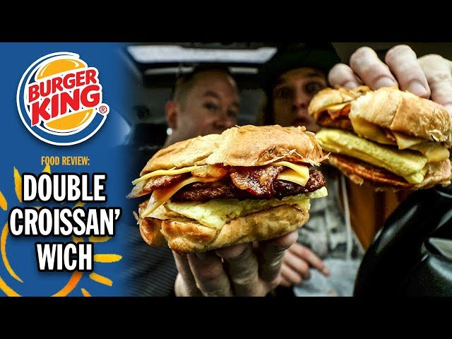 Burger Kings Double Croissanwich Breakfast Sandwich Food Review