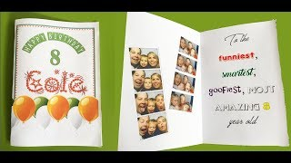 How to make a foldable birthday card with MS Word