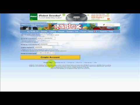 roblox parent account login