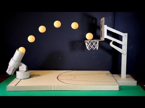 Karton kullanarak basketbol oyuncağı yapma