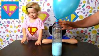 Надуваем воздушные шарики с помощью соды и уксуса