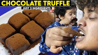 Condensed Milk Chocolate Truffle - With Only 2 Ingredients