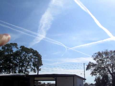 chemtrails 2012  New Years Day Clearwater FL Largo Tampa