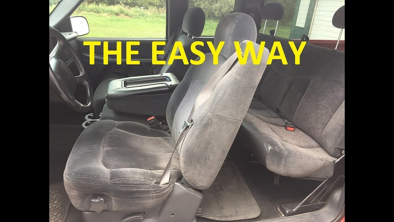 how to remove seats 1999 2006 chevrolet silverado tahoe suburban yukon sierra escalade h2 easy [ 1280 x 720 Pixel ]
