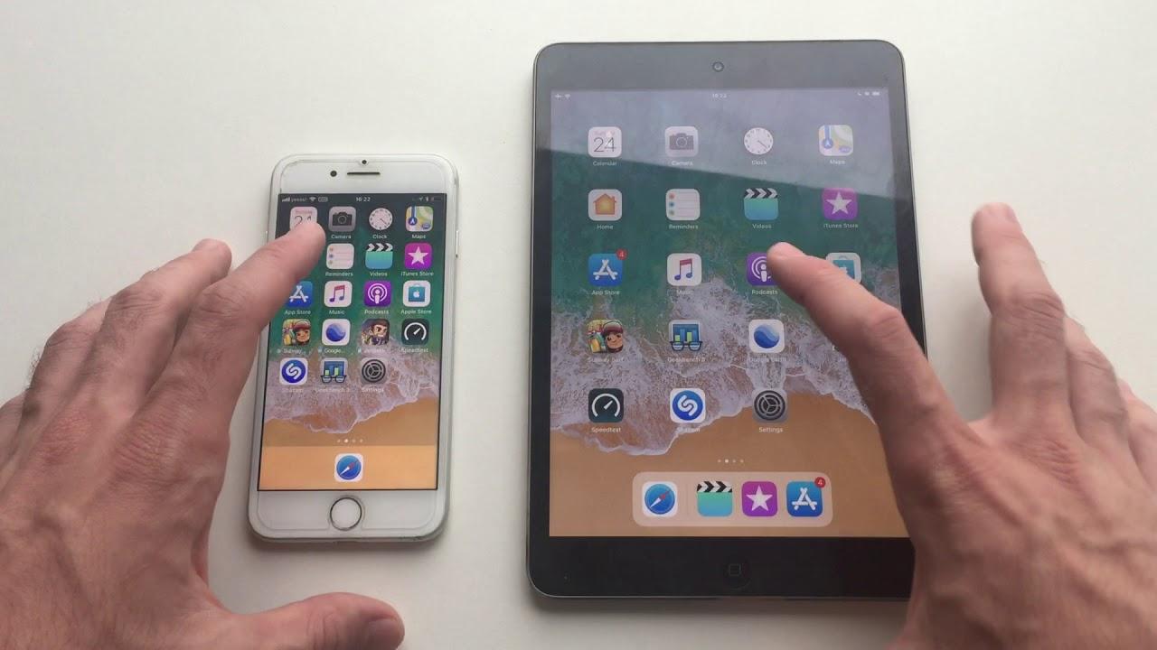 iphone 7 vs ipad mini 2 a10 vs a7 ios 11 youtube. Black Bedroom Furniture Sets. Home Design Ideas