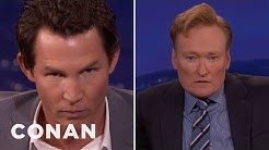 Shawn Hatosy And Conan Compare Intimidating Stares  - CONAN on TBS