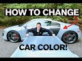 How to Change Car Color in 2 Days! Vinyl Wrap: Step by Step Guide Audi R8