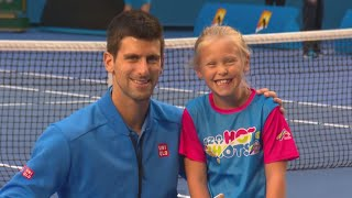 novak djokovic surprises anz tennis hot shot australian open 2015